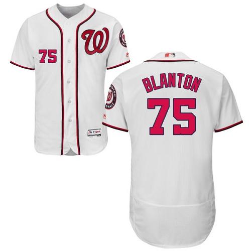 Nationals 75 Joe Blanton White Flexbase Jersey