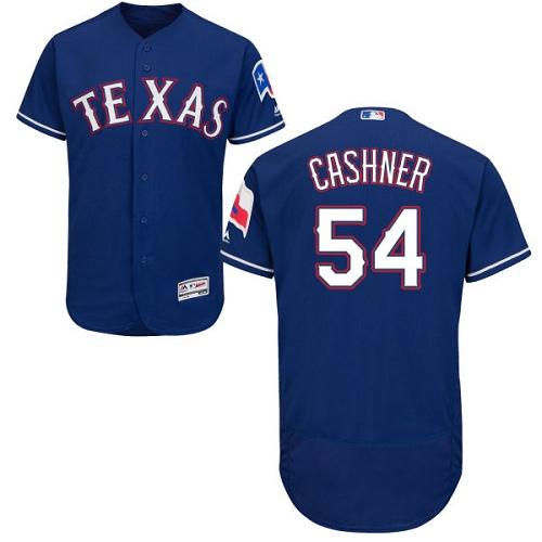Rangers 54 Andrew Cashner Blue Flexbase Jersey