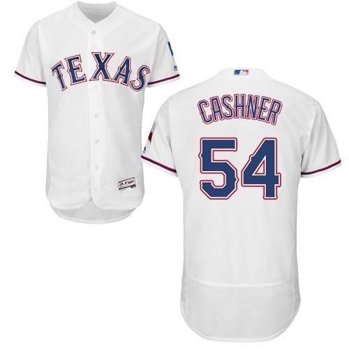Rangers 54 Andrew Cashner White Flexbase Jersey