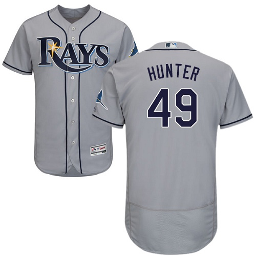 Rays 49 Tommy Hunter Gray Flexbase Jersey