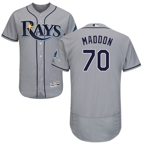 Rays 70 Joe Maddon Gray Flexbase Jersey