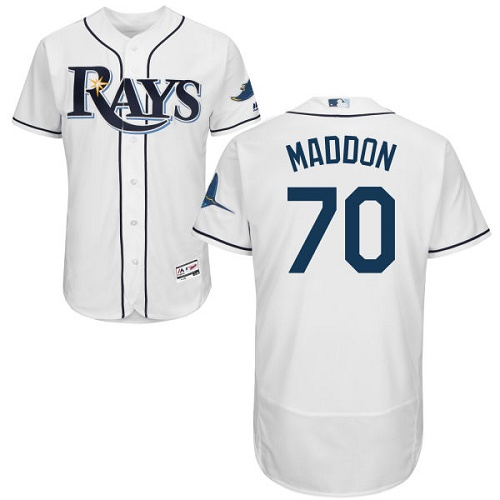 Rays 70 Joe Maddon White Flexbase Jersey