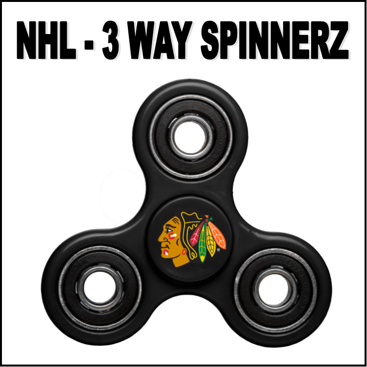 Blackhawks Team Logo Black Fidget Spinner