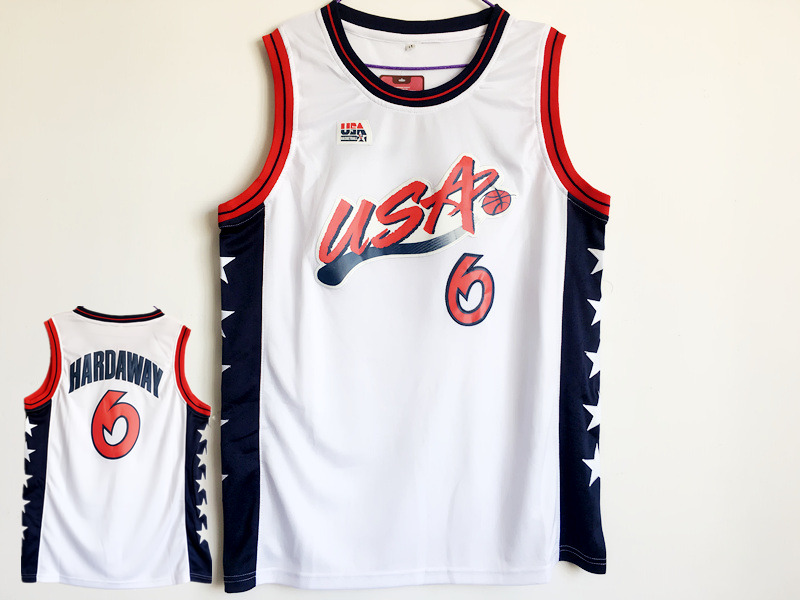 USA 6 Penny Hardaway White Dream Team III Jersey