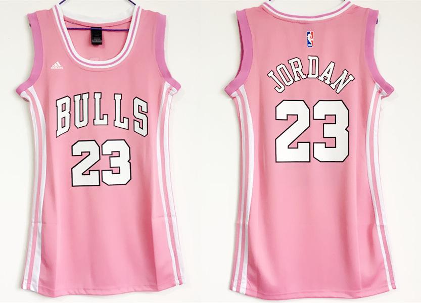 Bulls 23 Michael Jordan Pink Women Swingman Jersey