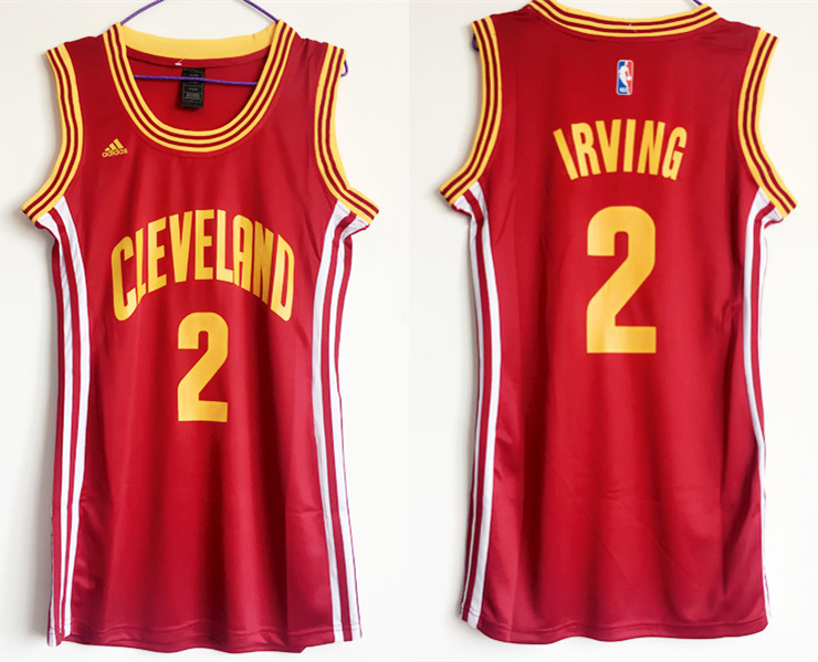 Cavaliers 2 Kyrie Irving Red Women Swingman Jersey