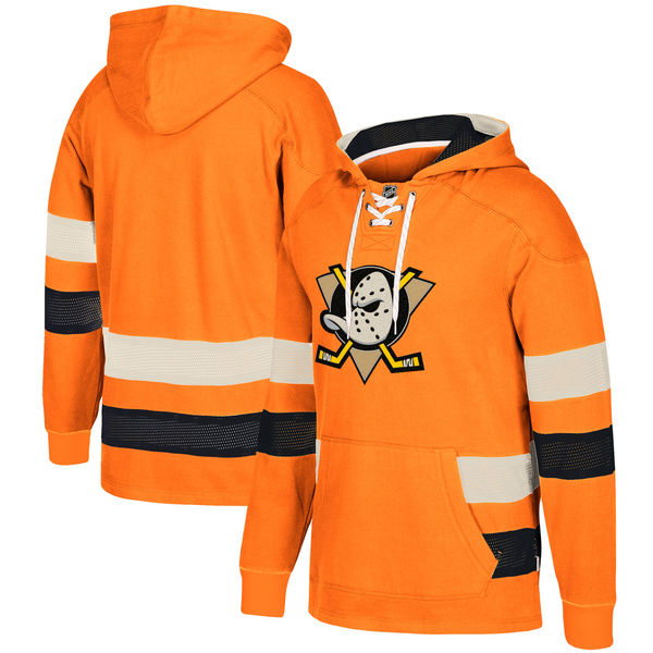 Ducks Orange Men's Customized All Stitched Hooded Sweatshirt