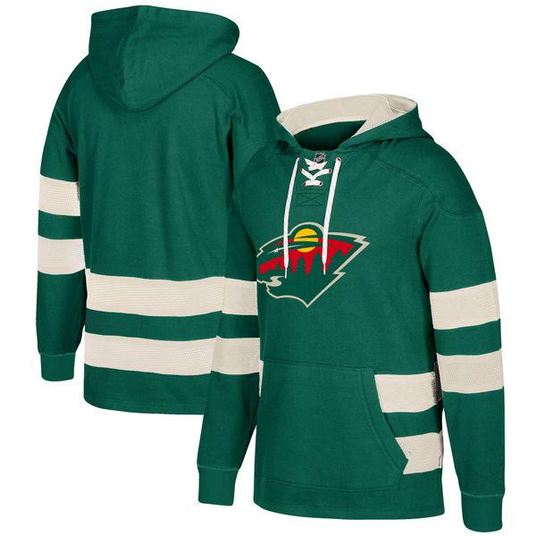 Minnesota Wild Green Men's Customized All Stitched Hooded Sweatshirt