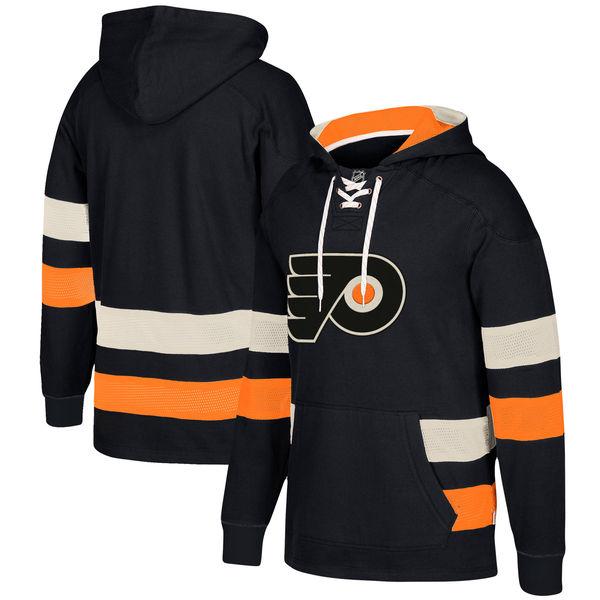 Philadelphia Flyers Black Men's Customized All Stitched Hooded Sweatshirt