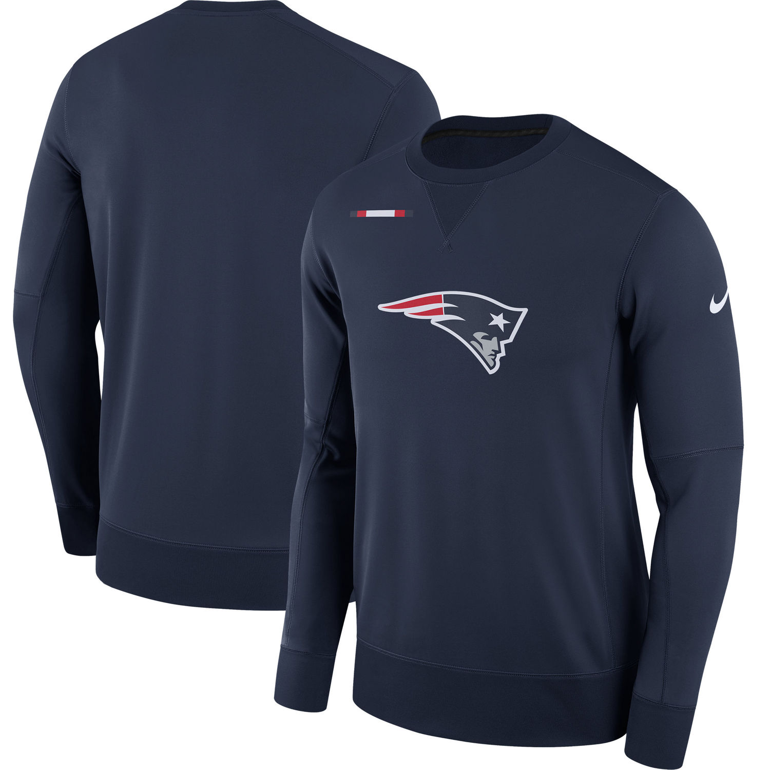 Men's New England Patriots Nike Navy Sideline Team Logo Performance Sweatshirt