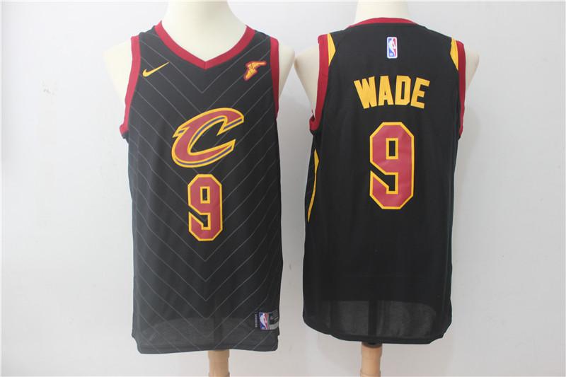 Cavaliers 9 Dwyane Wade Black Nike Swingman Jersey
