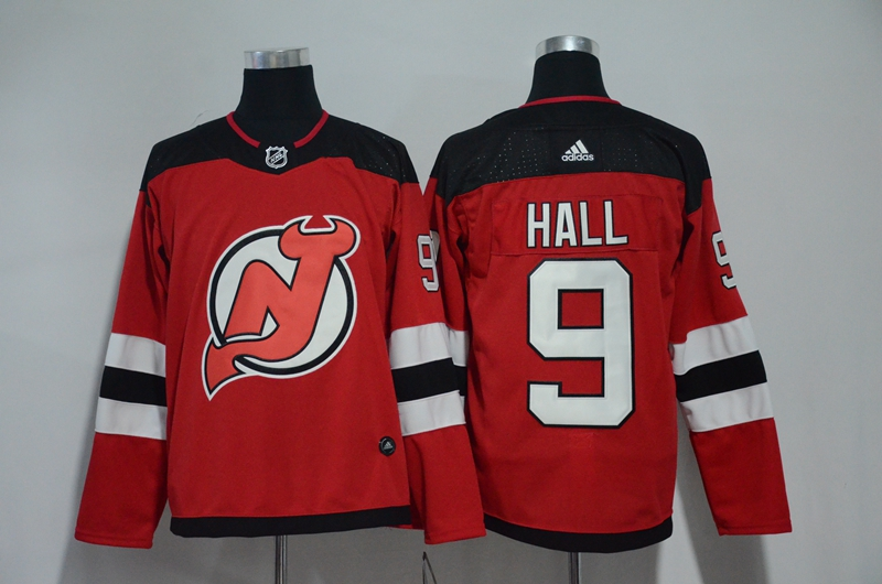 Devils 9 Taylor Hall Red Adidas Jersey
