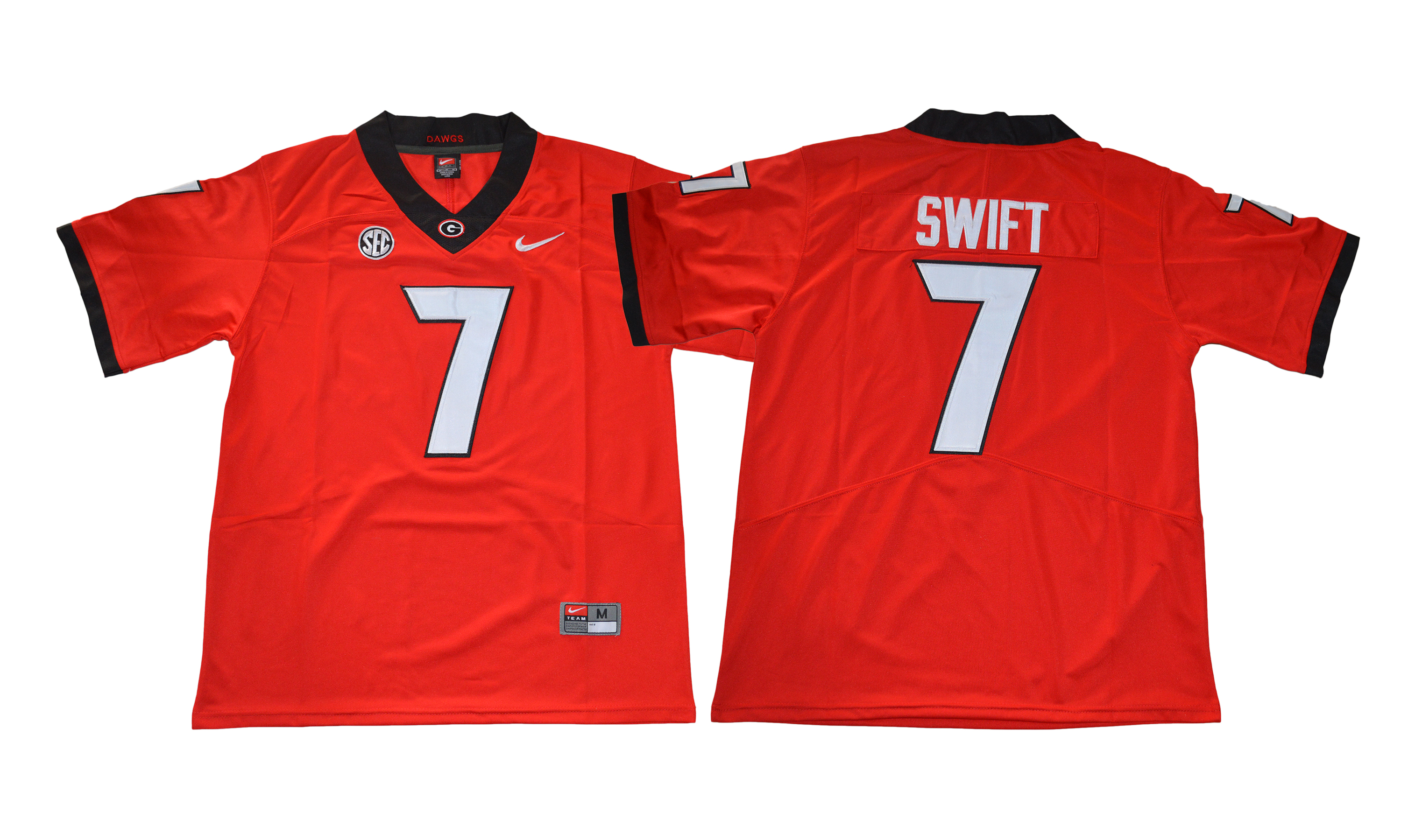 Georgia Bulldogs 7 D'Andre Swift Red College Football Jersey