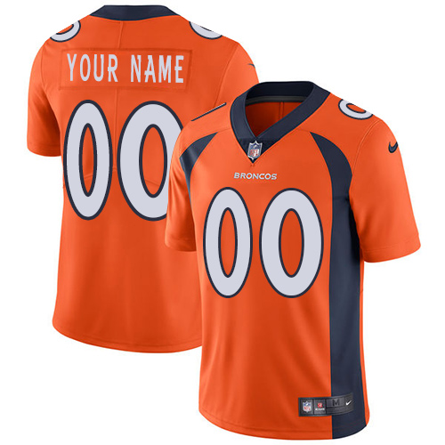 Nike Broncos Orange Men's Customized Vapor Untouchable Player Limited Jersey
