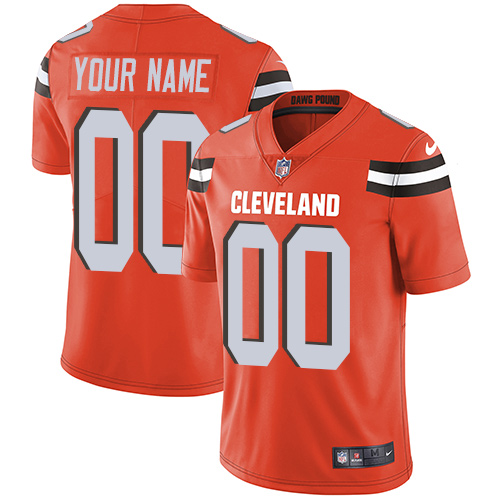 Nike Browns Orange Men's Customized Vapor Untouchable Player Limited Jersey
