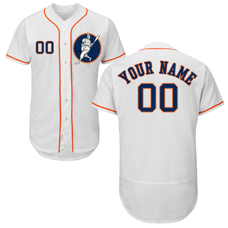 Astros White Men's Customized Flexbase New Design Jersey