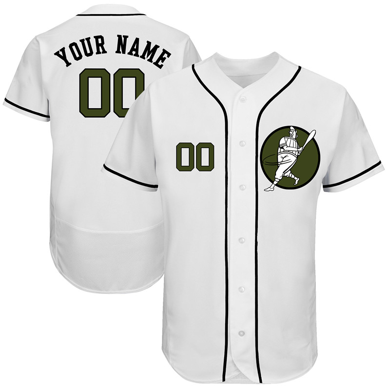 Astros White Men's Customized Green Logo New Design Jersey