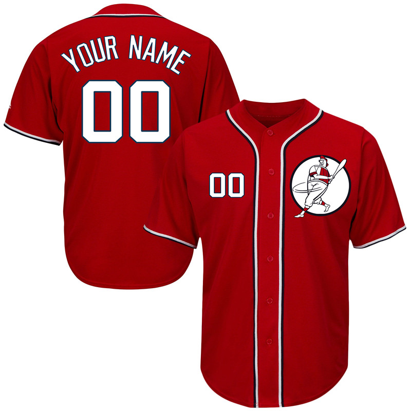 Nationals Red Men's Customized New Design Jersey