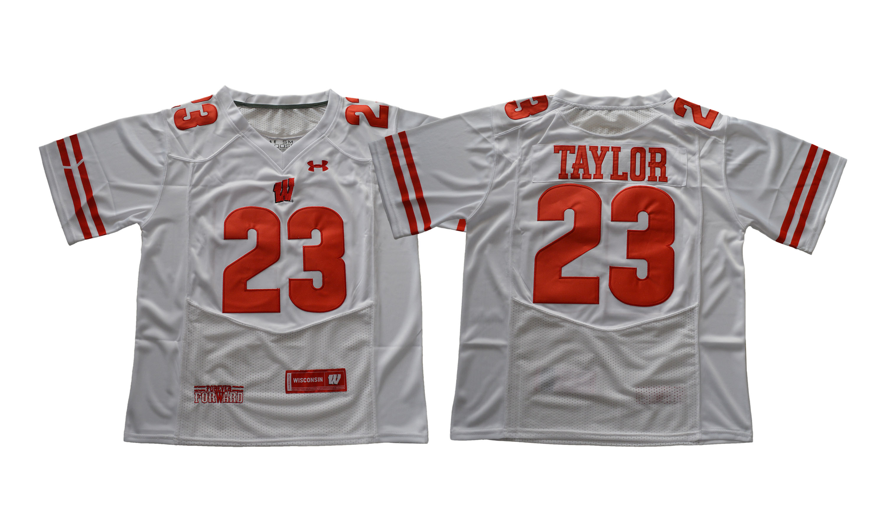 Wisconsin Badgers 23 Jonathan Taylor White College Football Jersey