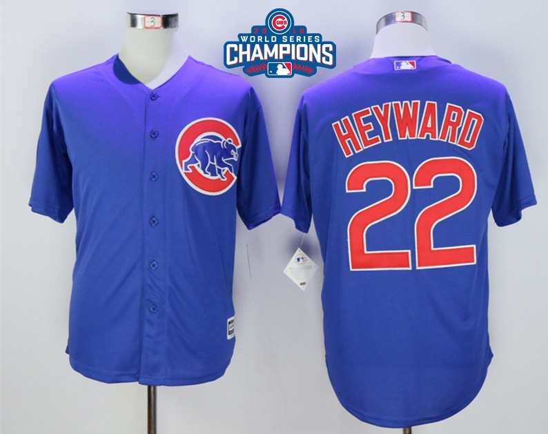 Cubs 22 Jason Heyward Royal 2016 World Series Champions New Cool Base Jersey