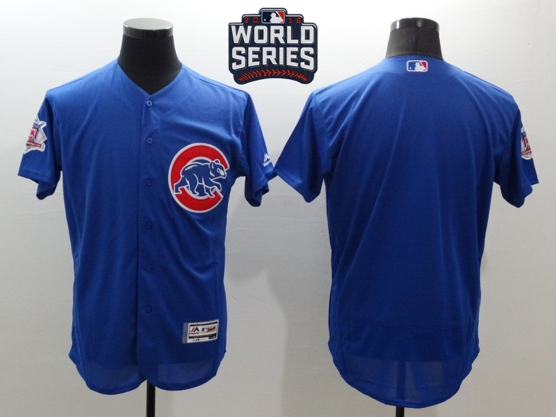 Cubs Blank Royal 2016 World Series Flexbase Jersey