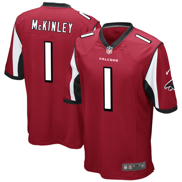 Nike Atlanta Falcons Takkarist McKinley Red 2017 Draft Pick Elite Jersey
