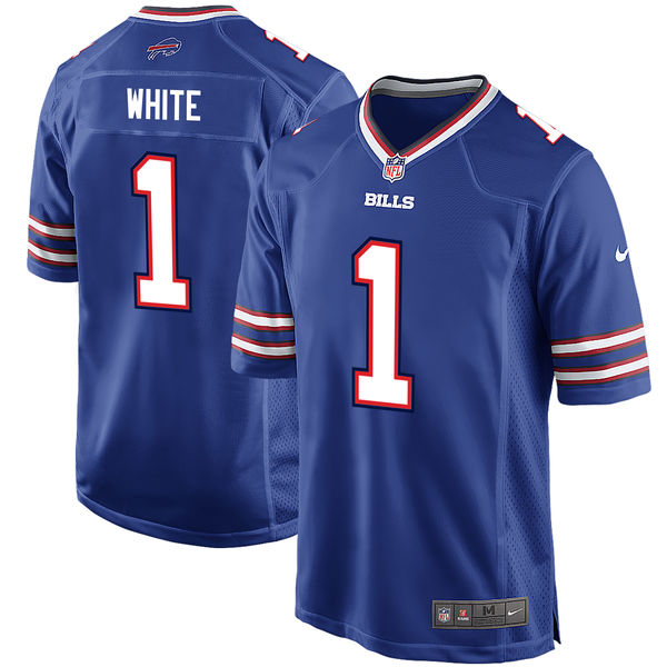 Nike Buffalo Bills Tre'Davious White Royal 2017 Draft Pick Elite Jersey