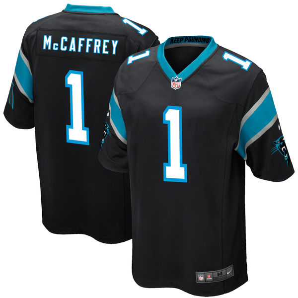 Nike Carolina Panthers Christian McCaffrey Black 2017 Draft Pick Elite Jersey