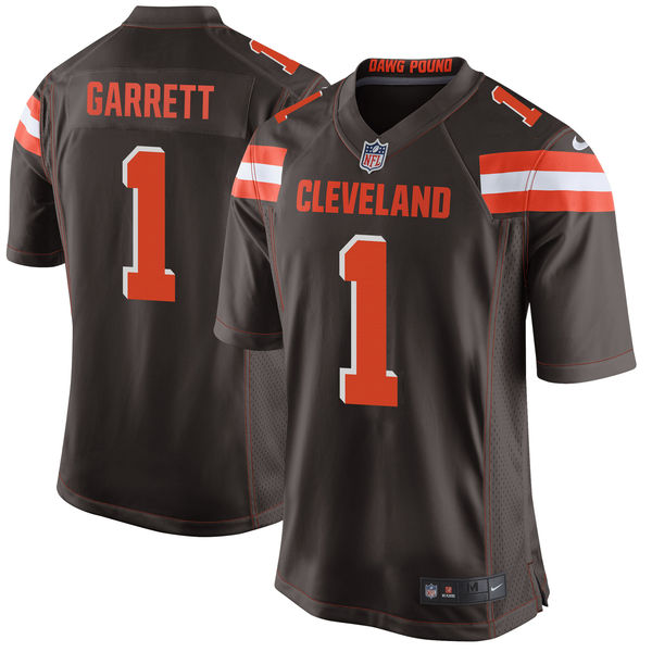 Nike Cleveland Browns Myles Garrett Brown 2017 Draft Pick Elite Jersey