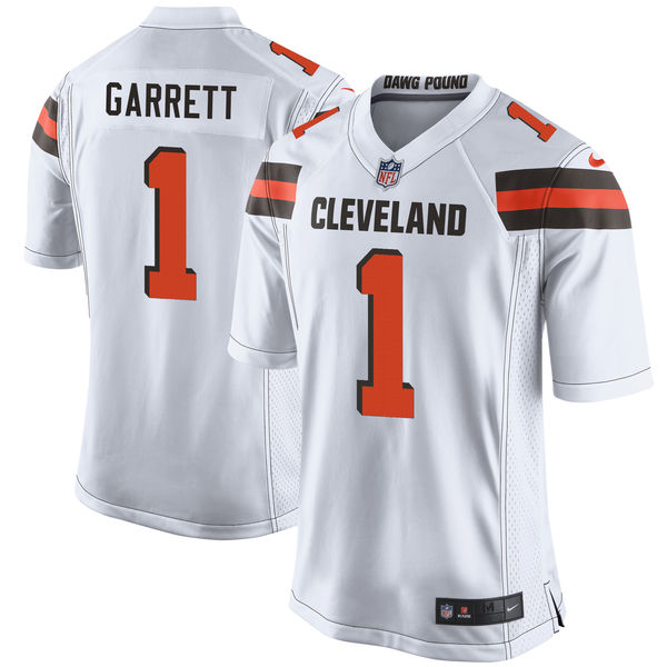 Nike Cleveland Browns Myles Garrett White 2017 Draft Pick Elite Jersey