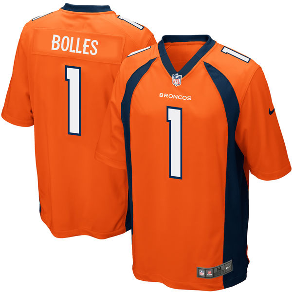 Nike Denver Broncos Garett Bolles Orange 2017 Draft Pick Elite Jersey