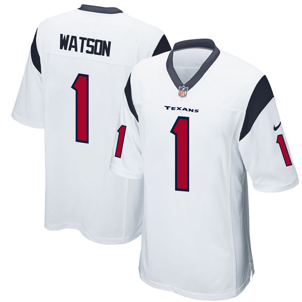 Nike Houston Texans Deshaun Watson White 2017 Draft Pick Elite Jersey