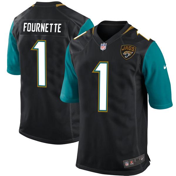 Nike Jacksonville Jaguars Leonard Fournette Black 2017 Draft Pick Elite Jersey