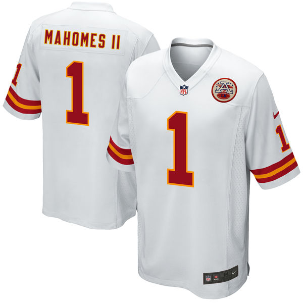 Nike Kansas City Chiefs Patrick Mahomes II White 2017 Draft Pick Elite Jersey