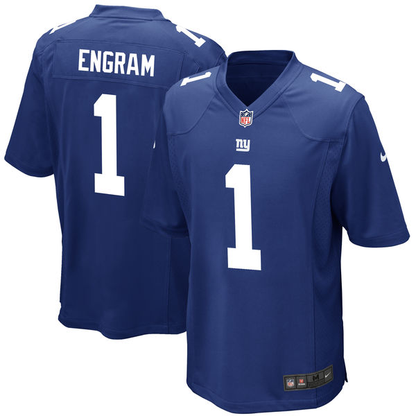 Nike New York Giants Evan Engram Royal 2017 Draft Pick Elite Jersey