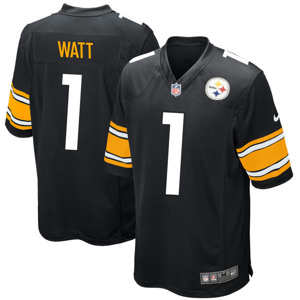 Nike Pittsburgh Steelers T.J. Watt Black 2017 Draft Pick Elite Jersey
