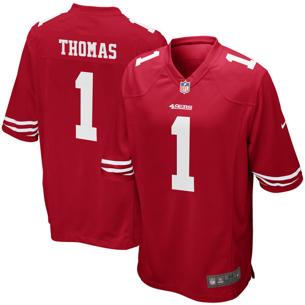 Nike San Francisco 49ers Solomon Thomas Scarlet 2017 Draft Pick Elite Jersey