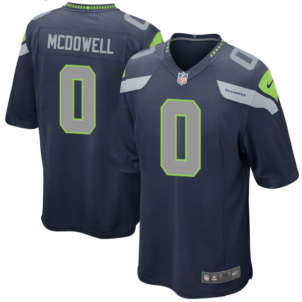 Nike Seattle Seahawks Malik McDowell Navy 2017 Draft Pick Elite Jersey