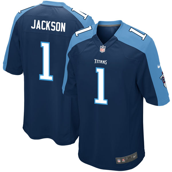 Nike Tennessee Titans Adoree' Jackson Navy 2017 Draft 2nd First Round Pick Elite Jersey