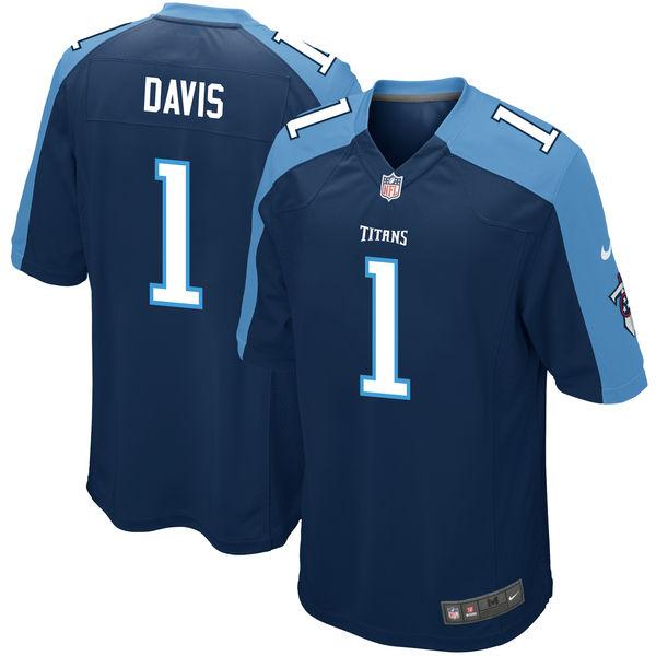 Nike Tennessee Titans Corey Davis Navy 2017 Draft Pick Elite Jersey