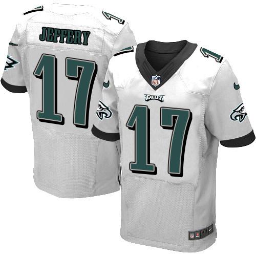 Nike Eagles 17 Alshon Jeffery White Elite Jersey