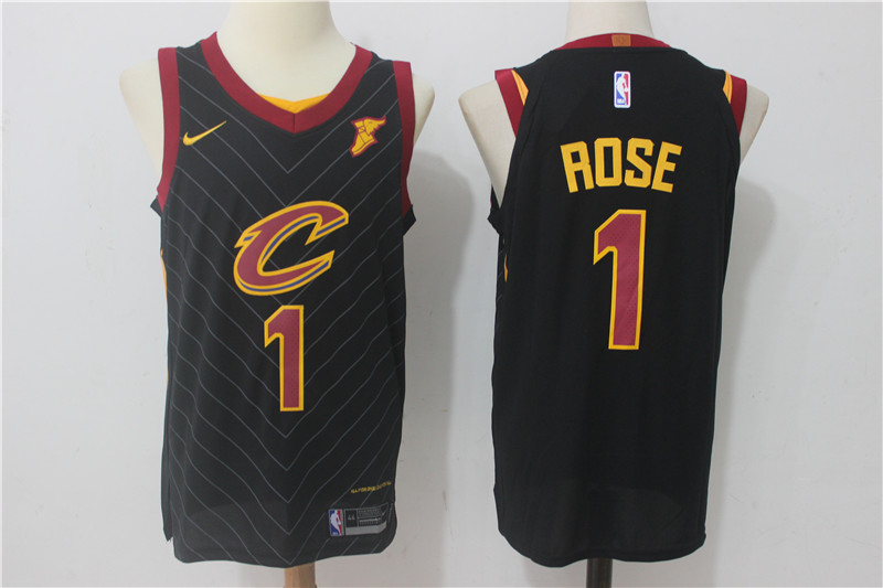 Cavaliers 1 Derrick Rose Black Nike Authentic Jersey
