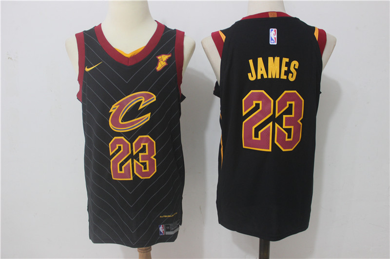 Cavaliers 23 LeBron James Black Nike Authentic Jersey