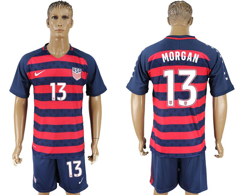 USA 13 MORGAN 2017 CONCACAF Gold Cup Away Soccer Jersey
