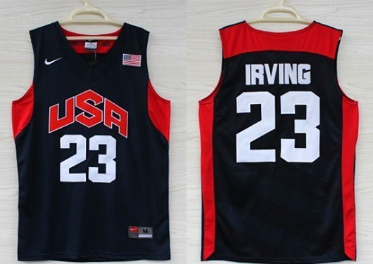 USA 23 Kyrie Irving Navy 2012 Olympic Basketball Team Jersey