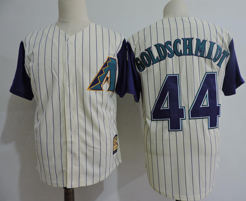 Diamondbacks 44 Paul Goldschmidt Cream Throwback Jersey