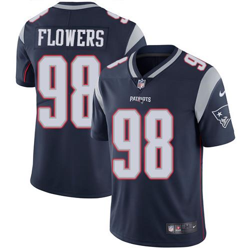 Nike Patriots 98 Trey Flowers Navy Vapor Untouchable Player Limited Jersey