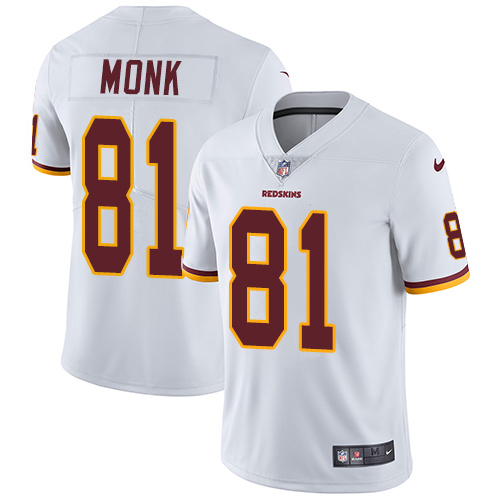 Nike Redskins 81 Art Monk White Youth Vapor Untouchable Player Limited Jersey
