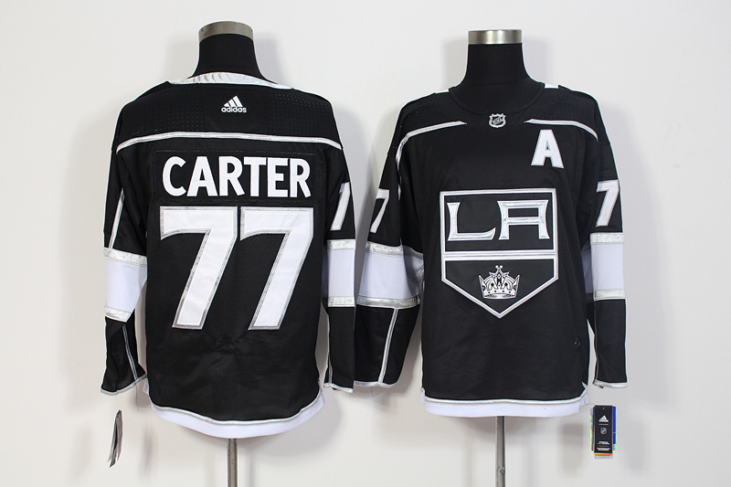Kings 77 Jeff Carter Black Adidas Jersey