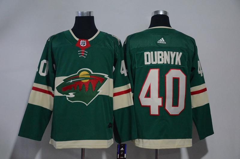 Wild 40 Devan Dubnyk Green Adidas Jersey
